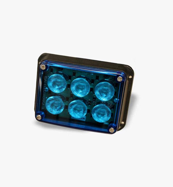 Foco de led de superfície FR47 azul (ISAE)