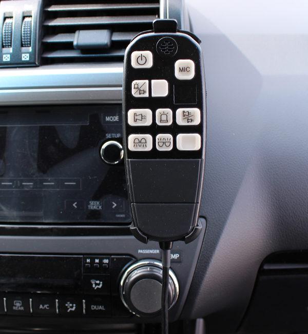 Detalle Amplificadorde sirena con megafonía 2010 12V