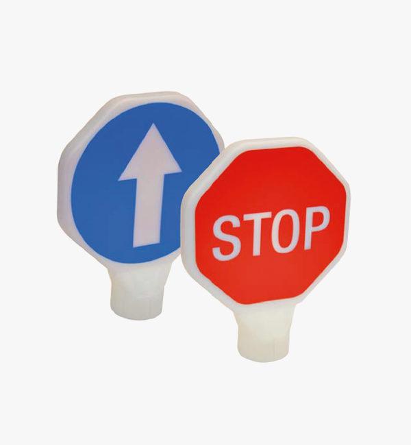 Paleta de señalización STOP- DIRECCIÓN
